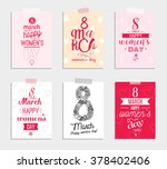 set of six greeting cards for... | Shutterstock .eps vector #378402406