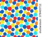 vector polka dot seamless... | Shutterstock .eps vector #378405712