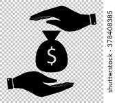 money bag sign. flat style icon ...