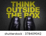 top view of business shoes on... | Shutterstock . vector #378409042