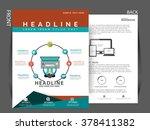 corporate flyer  banner  e... | Shutterstock .eps vector #378411382