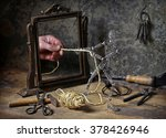 mysterious image with little... | Shutterstock . vector #378426946