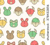 seamless regular pattern with... | Shutterstock .eps vector #378432856