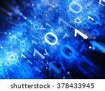 glowing blue big data in space... | Shutterstock . vector #378433945