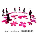fashion women vector | Shutterstock .eps vector #37843933