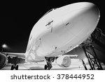 evening light aircraft   Shutterstock . vector #378444952