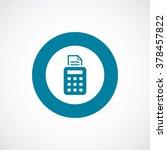 pos terminal icon  on white... | Shutterstock . vector #378457822
