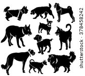set of dogs silhouette. vector. | Shutterstock .eps vector #378458242
