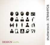 business man icons | Shutterstock .eps vector #378464926