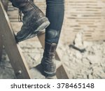 the feet of a person wearing... | Shutterstock . vector #378465148