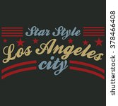 los angeles city typography... | Shutterstock .eps vector #378466408
