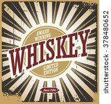 whiskey vintage tin sign | Shutterstock .eps vector #378480652