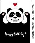 panda in love. birthday card... | Shutterstock .eps vector #378480796