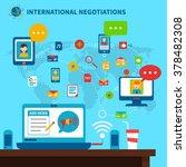 international negotiations... | Shutterstock .eps vector #378482308