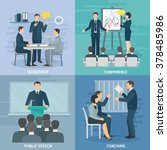 public speaking skills coaching ... | Shutterstock .eps vector #378485986