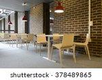 an empty cafeteria interior... | Shutterstock . vector #378489865