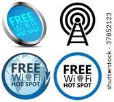 free wi fi internet access... | Shutterstock .eps vector #37852123