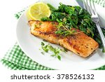 grilled salmon with thyme ... | Shutterstock . vector #378526132