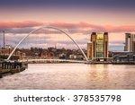 millennium bridge at sunset  ... | Shutterstock . vector #378535798