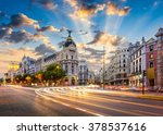 Madrid  Spain Cityscape At...