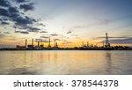 river side oil refinery...   Shutterstock . vector #378544378
