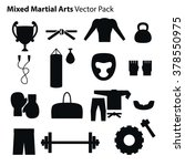 mix martial arts icons set.... | Shutterstock .eps vector #378550975