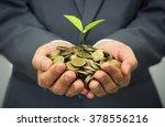 hands of business man holding a ... | Shutterstock . vector #378556216