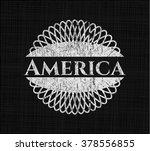 america written on a chalkboard