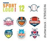 sport logo design set | Shutterstock .eps vector #378563146