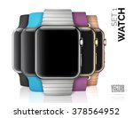 set of smart watch isolated on... | Shutterstock .eps vector #378564952