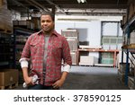 man in warehouse | Shutterstock . vector #378590125