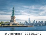The statue of liberty and...