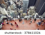 tourist people taking pictures... | Shutterstock . vector #378611026