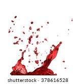 red juice splash closeup... | Shutterstock . vector #378616528