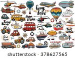 funny cute hand drawn kids toy... | Shutterstock .eps vector #378627565