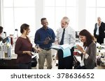 business team working office... | Shutterstock . vector #378636652