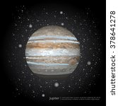 Planet The Stars Jupiter Vector Illustration