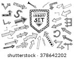 hand drawn arrow icons set... | Shutterstock .eps vector #378642202