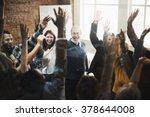 team huddle harmony... | Shutterstock . vector #378644008