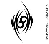 tattoo tribal vector design... | Shutterstock .eps vector #378651316