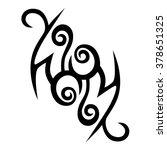 tattoo tribal vector design... | Shutterstock .eps vector #378651325