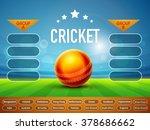 creative cricket match schedule ... | Shutterstock .eps vector #378686662