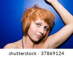 red haired girl at the party | Shutterstock . vector #37869124