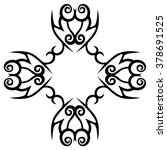 tribal tattoo design  vector... | Shutterstock .eps vector #378691525