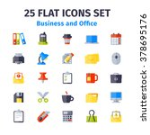 set of 25 flat icons. business... | Shutterstock .eps vector #378695176