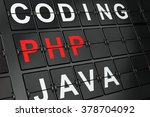 programming concept  php on... | Shutterstock . vector #378704092