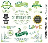 vector st. patricks day set... | Shutterstock .eps vector #378718312