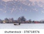morning scene of nigeen lake... | Shutterstock . vector #378718576