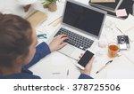 responsive design office mockup | Shutterstock . vector #378725506