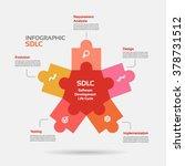 star shape software development ... | Shutterstock .eps vector #378731512